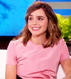 Emma Watson on The Ellen Show (March 3, 2017)  gif