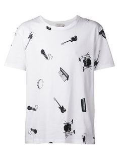 Maison Kitsuné Camisa com estampa