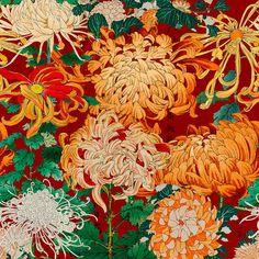 Mind the Gap Chrysanthemums Behang: Hier Verkrijgbaar WP20320 - Luxury By Nature Luxury Wallpaper, Modern Wallpaper, Of Wallpaper, Amazing Wallpaper, Wallpaper Ideas, Japanese Chrysanthemum, Chrysanthemum Tattoo, Crysanthemum, Peonies Garden