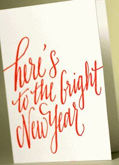 heres to the bright new year new year card letterpress gift wrapping gift