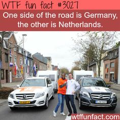 Germany and the Netherlands borders. WOW. So if a house was built in the middle and you stood stood right on the line, you could tell people you live in both Germany and Netherland! XD That would be so confusing... -  WTF fun facts