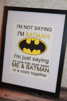 Batman Wall Art by littleshoppeofpaper on Etsy, $10.00
