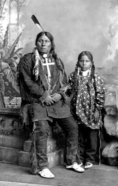Chief Gall and his nephew, William Hawk.