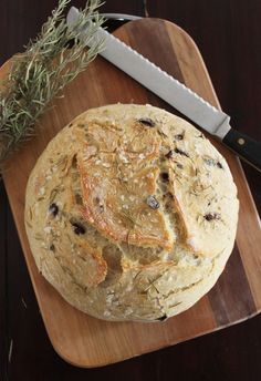 food on paper: Olive and Rosemary Bread