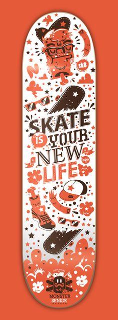 Monster Senior Skateboards by New Fren, via Behance