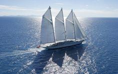 Luxury Yacht Athena - the largest 3 masted schooner in the world Web Design, Full Sail, Floating House, Yacht Boat, Video Background, Sail Away, Luxury Yachts, Sailing Ships, Bonito