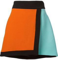 Fausto Puglisi colour block wrap skirt
