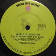 JACKIE WILSON SAID (I'M IN HEAVEN WHEN YOU SMILE) / YOU'VE GOT THE POWER | VAN MORRISON | 7 inch single | $30.00 AUD | music4collectors.com