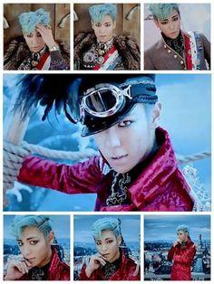 P (BIGBANG) - This man somehow fabulously pulls of blue hair. Daesung, T.o.p Bigbang, Top Fantastic Baby, Big Bang Kpop, Bang Bang, Sung Lee, Lee Hi, Top Choi Seung Hyun, G Dragon Top