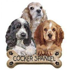 Puppies T Shirt Cocker Spaniel with Bone Biscuit Dog Print WOMENS T Shirt