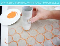 How to create your own printed fabric with toilet paper rolls! #brilliant #DIY