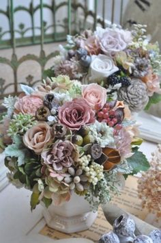 f:id:nora0924:20150812144840j:image Basket Flower Arrangements, Floral Arrangements, Dried Flowers, Floral Wreath, Shabby Chic, Gardening, Wreaths, Party, Image