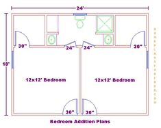Bedroom18x24addition Floor Plan030510.JPG Click Image To Close This Window.  Bathroom ClosetMaster BathroomMaster BedroomsJack And JillBath ...