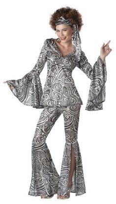 California Costumes Foxy Lady Set, Black/Silver, X-Large