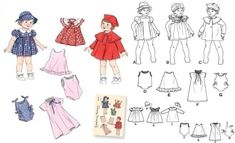 Free Printable Doll Clothes Patterns | Baby Doll - Doll Clothes in 3 sizes-Baby Doll - Doll Clothes in 3 ...