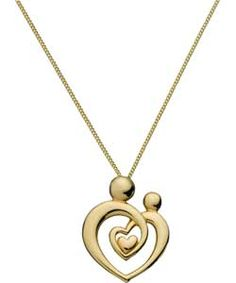 Buy 9ct Gold Plated Silver Mother and Child Heart Pendant at Argos.co.uk, visit Argos.co.uk to shop online for Ladies' necklaces