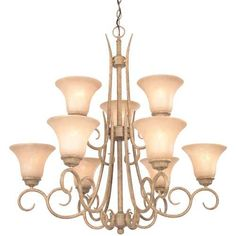 Dolan Designs Lighting Chandelier with Amber Glass in Terracotta Finish | 1922-55 | Destination Lighting