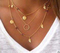 Ethnic Boho Charm Necklaces - Assorted