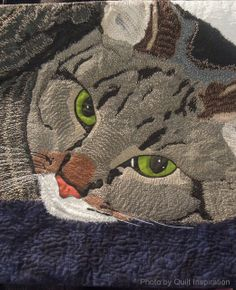 """Princess Daphne"" by Karen Ponischil.  2013 Houston IQF.  Close up photo by Quilt Inspiration: It's Raining Cats and Dogs: Part 1."