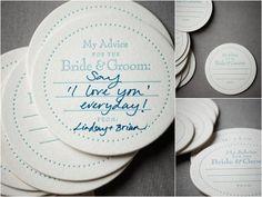 Bierviltjes {DIY- leuk idee voor als je gaat trouwen} - Pinterested @ http://wedspiration.com.