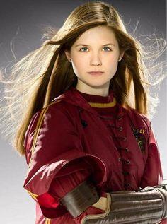 Bonnie wright as a Ginny Wesley