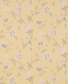 FABRIC PRINTS | Elveden Camomile Wallpaper from Laura Ashley |