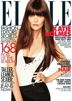 Katie Holmes, Brunette Fringe, Brunette Hair, Tom Cruise, Cosmopolitan, Celebrity Gossip, Celebrity Style, Magazin Covers, Toms