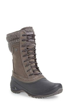 These are exactly what I was looking for. The North Face Shellista Waterproof - Winter Boots - Ideas of Winter Boots - These are exactly what I was looking for. The North Face Shellista Waterproof Mid Boot (Women) available at Ugg Boots, Combat Boots, Bootie Boots, Shoe Boots, Rain Boots, Dress Boots, Winter Shoes, Winter Wear, Cute Shoes