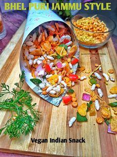 Bhel Puri Recipe, Puri Recipes, Puffed Rice, Chaat, Street Food, I Foods, Vegan, Blog, Collection