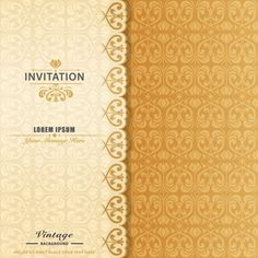 Elegant ornamental invitation Free Vector