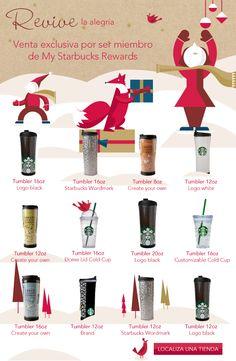 Promociones navideñas exclusivas para los miembros de My Starbucks Rewards - Chilanga Banda #Mexico