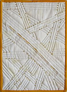 Thin Yellow Line by Linda Seward Textiles Techniques, Sewing Techniques, Fabric Textures, Fabric Patterns, Sewing Patterns, Fabric Decor, Fabric Art, Chenille Quilt, Textile Fiber Art