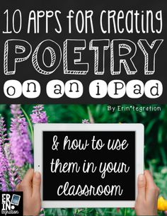 iPad integration for National Poetry month with these 10 apps for creating poetry on iPad. Learn how to create and share digital poems on the iPad. Rhyming Poems, Poetry Unit, Writing Poetry, Writing Games, Writing Rubrics, Paragraph Writing, Opinion Writing, Persuasive Writing, Writing