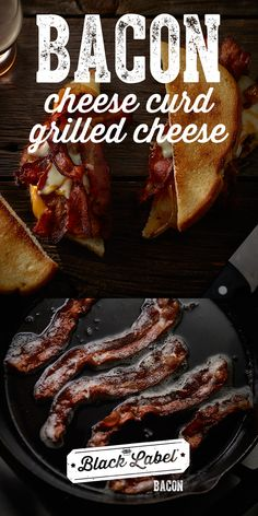 Hormel Black Label Bacon: Savory bacon varieties that never compromise on quality or taste. Bacon Sandwich Recipes, Bacon Sandwiches, Cheese Curds, Label, Dishes, Drink, Breakfast, Black, Food