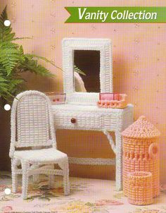 VANITY COLLECTION FURNITURE PLASTIC CANVAS PATTERN BY ANNIES  FASHION DOLL  picclick.com