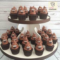 funny poop cupcakes