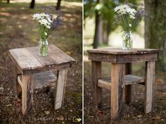 Barnwood bedside table. $80.00, via Etsy.