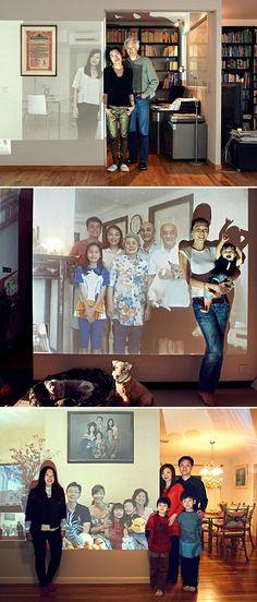 A brilliant idea - Skype family reunions!