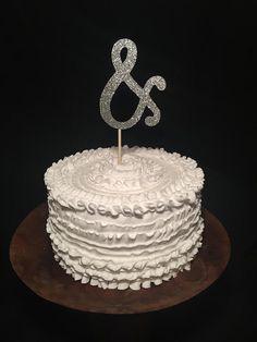 Glitter Wedding Cake Topper by cmorrisdesigns on Etsy
