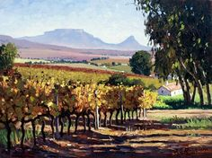 Roelof Rossouw African Paintings, Nature Paintings, Landscape Paintings, House Paintings, Landscapes, South Africa Art, South African Artists, Art For Art Sake, Watercolor Landscape
