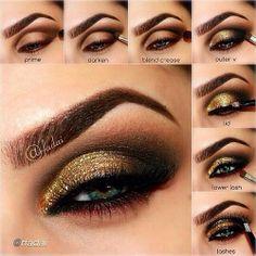 New Eye Shadow Ideas Hazel Eyeliner Ideas Eye Makeup Steps, Smokey Eye Makeup, Eyeshadow Makeup, Eyebrow Makeup, Makeup Goals, Makeup Tips, Beauty Makeup, Makeup Ideas, Makeup Tutorials