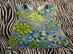 ~ Pogo Club of NY  Baby Girl Blue Floral Sequin Shirt ~ Size 2T ~EUC