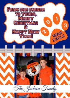 ON SALE Auburn Tigers Blue Orange Photo Holiday by MemoriesToo, $15.00