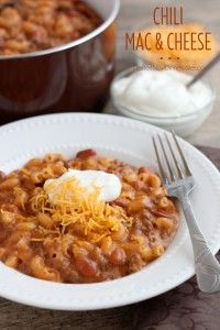 Chili Mac and Cheese - Dessert Now, Dinner Later!