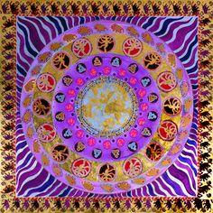 Gold Shiva First Mandala by Paul Heussenstamm