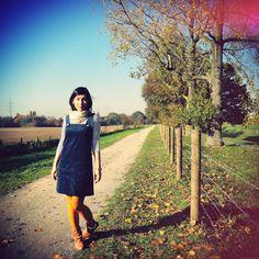 nette: My autumn love: corduroy dress with pattern Sewing Patterns Free, Clothing Patterns, Dress Patterns, Free Pattern, Free Sewing, Clothing Ideas, Sewing Clothes, Diy Clothes, Pinafore Dress Pattern