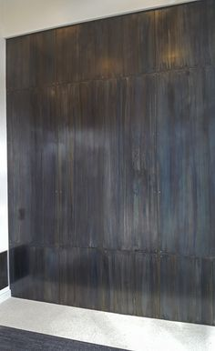 Brandner Design Blue Heat Countersunk and Floating teel Wall Panels Home Fireplace, Fireplace Surrounds, Fireplace Design, Exterior Wall Panels, Modern Exterior Doors, Wall Pannels, Wood Wall Design, Metal Wall Panel, Craftsman Interior