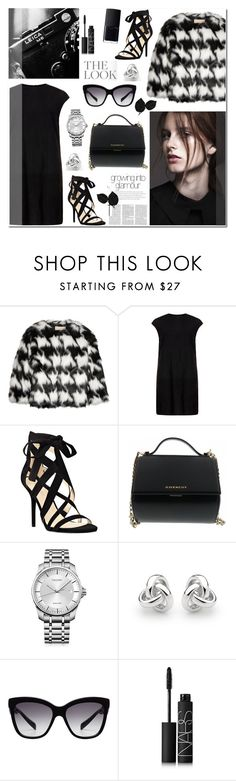 """""""Cropped Faux Fur Coat"""" by anyasdesigns ❤ liked on Polyvore featuring MICHAEL Michael Kors, MuuBaa, Nine West, Givenchy, Calvin Klein, Georgini, Dolce&Gabbana, NARS Cosmetics and croppedfauxfur"""