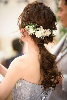 Hairdo Wedding, Wedding Hair And Makeup, Wedding Attire, Bridal Hair, Hair Makeup, Wedding Dresses, Party Hairstyles, Bride Hairstyles, Cute Hairstyles