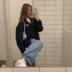 Latest Outfits, Mode Outfits, Girl Outfits, Fashion Outfits, School Outfits, College Outfits, Fashion Fall, Fashion Trends, Simple Outfits